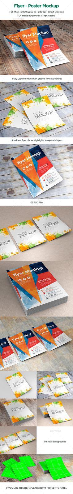 Flyer – Poster Mockup #design Download: http://graphicriver.net/item/flyer-poster-mockup/12366829?ref=ksioks