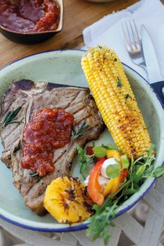 Braaied T-bone with monkey gland sauce | A Braai the Beloved Country sauce, so South African. What's this sauce without our iconic Mrs Ball's chutney? Monkey gland sauce goes well with any burger. This sauce stores well for up to 3 days.