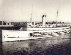 The S.S. Catalina, also known as The Great White Steamer, was a 301-foot steamship built in 1924 that provided passenger service on the 26-mile passage between San Pedro and Santa Catalina Island from 1924 to 1975.