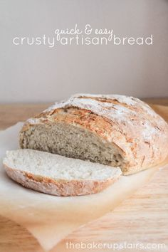 this artisan bread recipe is easier to make than you think! and delicious!