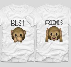 tricouri-bff-best-friends-emoji-monkeys-maimute-maimutici Emoji, Bff, Onesies, Best Friends, Kids, Clothes, Fashion, Beat Friends, Young Children