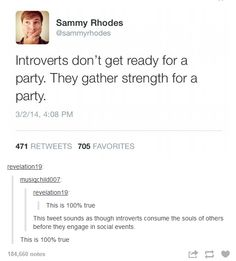 Well I am an introvert that is ginger so...