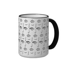 Staring Faces Coffee Mug