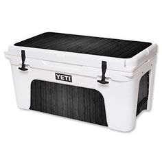 MightySkins Protective Vinyl Skin Decal for YETI Tundra 65 qt Cooler wrap cover sticker skins Black Wood >>> Visit the image link more details.