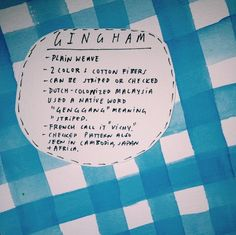 Gingham #getwise2013
