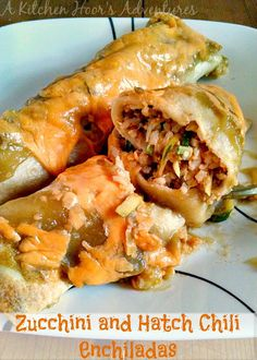 Zucchini and Hatch Chile Enchiladas