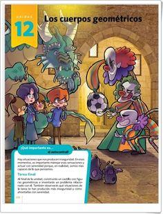 "Unidad 12 de Matemáticas de 5º de Primaria: ""Los cuerpos geométricos"" Editorial, Comic Books, Comics, Memes, Cover, Fictional Characters, Vocabulary In English, Solid Geometry, Interactive Activities"