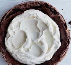 Chocolate Cake with Mascarpone Whipped Cream Springform Pan, Unsweetened Cocoa, Powdered Sugar, Unsalted Butter, Whipped Cream, Chocolate Cake, Vanilla, Desserts, Mascarpone