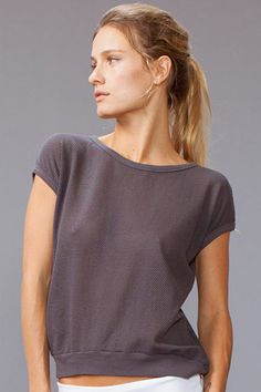 #solowspring2013 SOLOW - Rib Band Mesh Top