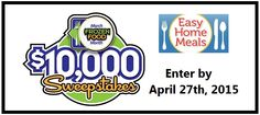 Did you know that March is National March Frozen Food Month? To celebrate, Easy Home Meals is giving you the chance to win $10,000 cash! Yes! Who couldn't use $10k? After you've entered the sweepstakes, …