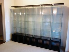 DIY Display Case Inspiration Ideas For Your Favorite Collections Glass Display Case, Toy Display, Display Cases, Shadow Box Display Case, Action Figure Display Case, Ikea Detolf, Vitrine Design, Regal Display, Geek Room