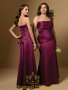 Vampal.com Offers High Quality Elegant A-Line Satin Wine Red Strapless 2010 Bridesmaid Dress Prom Gown,Priced At Only USD USD $107.00 (Free Shipping)