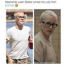 """""""Enquanto isso Justin Bieber se transformou na Lolly de Orange Is The New Black"""" Essa foi cruel, muito cruel �� Coitado, mas tá feio mesmo ��... ✨ Parcerias:  @tatto.mylife  @loucuraspontocom  @resenhando.tudo  @semideuses.gregos  @esquadrao_das_sagas  @indicadoresdefilmes  @semideusas_perdidas_  @semideusagrega  @pwrcy_  @pwrcabethx  @annie_indelicada  @unicornia_literaria @percyanas_  @satannabeth ✨ #OITNB #orangeisthenewblack #lolly #justinbieber #legiaodenerds…"""