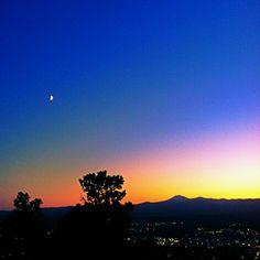 High desert twilight.