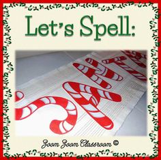 #Christmasprogram FREEBIE!  Spell S-A-N-T-A with Peppermint Letters.  Print the letters and cut them out.  Mount on green construction paper.  Use with your holiday programs.
