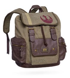 Star Wars With adjustable and padded straps, this backpack features a flap with the Alliance Starbird stencil, which looks like it closes with buckles but actually closes with magnetic snaps. Because you always want to keep the Empire guessing. http://www.hoffadesign.com/
