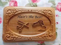 Hair Stylist Gift ~ Hairdresser Sign ~ Hair Stylist Sign ~ Salon Sign ~ Wood Sign ~ Wooden Sign ~ Hair Salon Decor ~ Gift for Hairdresser - pinned by pin4etsy.com