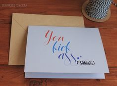 Congratulations card from BE paperie | www.BEpaperie.Etsy.com #congrats