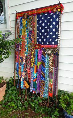 BRIGHT Boho American Flag Bohemian wall tapestry BOHO curtain