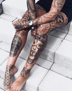 Jessica Rosen ##Tattoos - psyk02mikmak07 - Google+ #SleeveTattoos #TattooIdeasDibujos