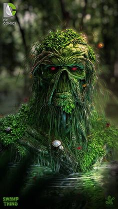 Swamp Thing redesign, by Insane Art of Saad Irfan.