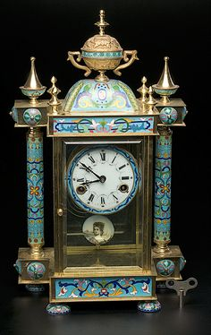 Oriental inspired clock