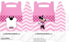 Pretty Minnie in Pink: Free Printable Boxes. - Oh My Fiesta! in english Printable Box, Templates Printable Free, Free Printables, Dulceros Mickey Mouse, Mickey Minnie Mouse, Minnie Baby, Mickey Mouse Birthday, Pink Parties, Mouse Parties