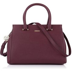 DKNY Cross-body Large Satchel (£170) ❤ liked on Polyvore featuring bags, handbags, burgundy, dkny crossbody, purple crossbody, satchel handbags, purple crossbody purse and crossbody satchel handbags