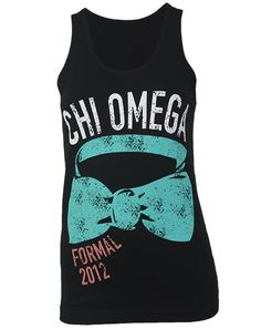 Chi Omega Bow Tie Formal Tank