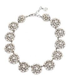 Bridal Vintage Style Pearl and Crystal Bouquet Necklace by Ben Amun | Thomas Laine