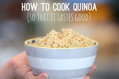Here's how to cook quinoa the right way so that it's fluffy, mild, and delicious—even kid-friendly. Best Recipes on Cooking Quinoa in a Crock Pot Vegan Recipes, Cooking Recipes, Cooking Tips, Farro Recipes, Cooking Kale, Cooking Turkey, Diet Recipes, Recipies, La Trattoria