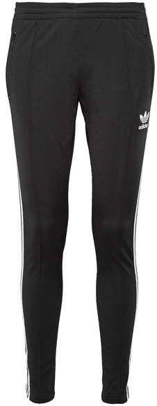 adidas Originals - Superstar Striped Stretch-jersey Track Pants - Black