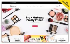 Ecommerce Template, Cosmetic Shop, Beauty Cream, Natural Cosmetics, Beauty Shop, Online Shopping Stores, Lotion, Eyeshadow, Skin Care