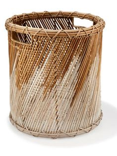 West Elm's hand-dipped reed bin is almost too pretty for its purpose. ($29) #50under50