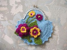 Crochet Coin Purse For Mother's Day - $15.00 - Handmade Accessories, Crafts and Unique Gifts by Neduk's Goodies