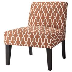 Avington Upholstered Armless Accent Slipper Chair-Orange Trellis.Opens in a new window