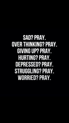 prayer is the answer...