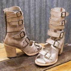 A strappy distressed leather Freebird sandal is a must have! Wear it with a sundress for the next festival or make a statement with your denim shorts!