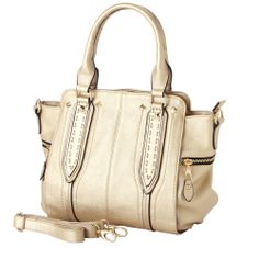 NORI Gold Top Handle Office Tote Style Satchel