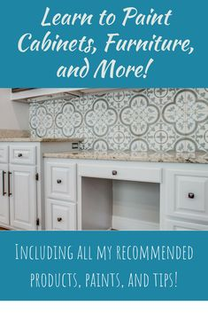 Give your cabinets a makeover! Get this profession. Give your cabinets a makeover! Get this professional cabinet painting tutorial with easy cabinet painting tips that will help you take the guess work out of what products, tools and techniques to use! Furniture Painting Techniques, Paint Furniture, Home Furniture, Painting Videos, Painting Tips, Cabinet Paint Colors, Painting Cabinets, Learn To Paint, Home Decor Items