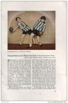 Körperkultur und Sport der Frau / Artikel, entnommen  aus Zeitschrift/ Datum unbekannt