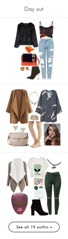 """""""Day out"""" by be-the-1 ❤ liked on Polyvore featuring Topshop, Charlotte Russe, Chicwish, Amey Martin, Pierre Hardy, Goldmajor, Old Navy, WithChic, Stuart Weitzman and MANGO"""