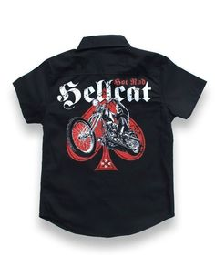 Hotrod Hellcat Kinder SKULL BIKER Hemd.Oldschool,Tattoo,Biker,Custom Style