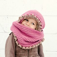 Instant Download  Crochet Pattern  Loopy/Hoody Cowl Scarf