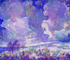 Abram Molarsky: The Storm, 1934. Abram Molarsky (1879-1955) an American Impressionist and Post-Impressionist artist.