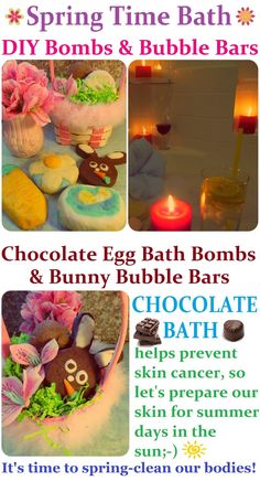 DIY Spring time Bubble Bars & Bath Bombs Recipe + Easter Egg Chocolate Bath Bombs + Bunny Bubble Bars, How to Make LUSH Products CHEAP, EASY & QUICK! Homemade Gift Idea for Easter. More LUSH DIYs on www.MariaSself.com