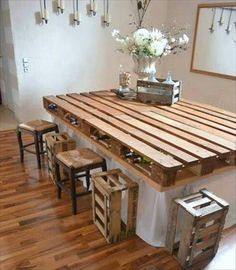 DIY Pallet Dining Table Plans
