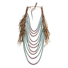 Blackfeet Beaded Loop Necklace, From the Collection of Robert Jerich, Illinois | Cowan's Auction House: The Midwest's Most Trusted Auction House / Antiques / Fine Art / Art Appraisals Native American Crafts, American Indian Art, American Indians, Blackfoot Indian, Chocker, Tassel Necklace, Necklaces, Illinois, Beadwork