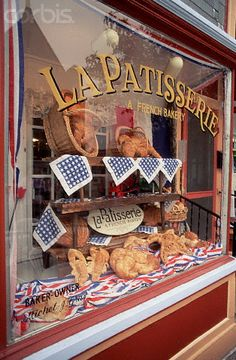 French Bakery in Cape May Bakery Window Display, Shop Window Displays, French Patisserie, French Bakery, Joanna Kuchta, Bakery Cafe, Bakery Decor, Bakery Shops, Shop House Plans
