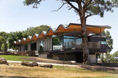 Seeley Architects. Lauriston House. Kyneton. Australia. photos: Peter Hyatt  -wavy design -inspiring !